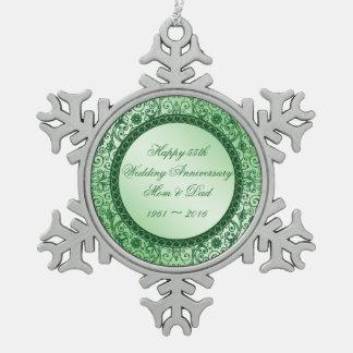Ornamento elegante del copo de nieve del adorno de peltre en forma de copo de nieve