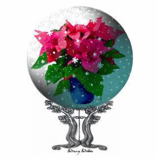 Ornamento elegante del globo de la nieve adorno fotoescultura