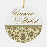 Ornamento elegante del recuerdo de la tapicería adorno de navidad