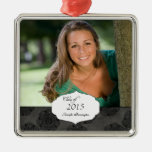 Ornamento elegante negro de la foto de la graduaci ornamento para arbol de navidad