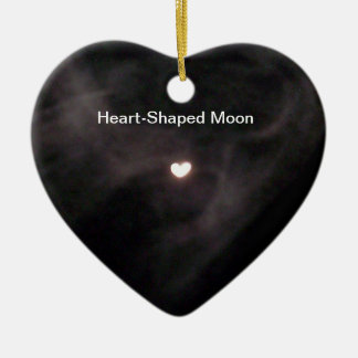 Ornamento en forma de corazón de la luna ornamentos de reyes