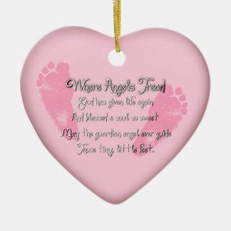 Ornamento en forma de corazón del nacimiento de lo ornamento para arbol de navidad