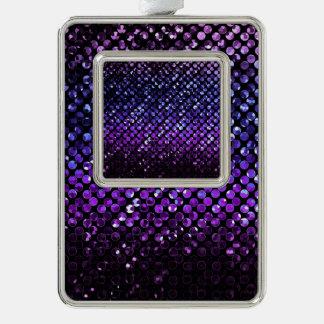 Ornamento enmarcado Bling cristalino púrpura Adornos Navideños