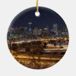 Ornamento escénico del navidad de Denver Colorado Adorno Navideño Redondo De Cerámica