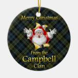 Ornamento escocés del navidad de Campbell del clan Adorno Navideño Redondo De Cerámica