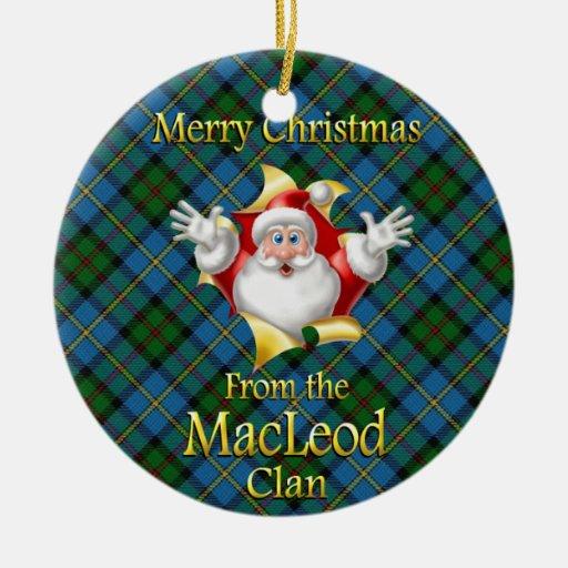 Ornamento escocés del navidad de MacLeod del clan Ornamente De Reyes