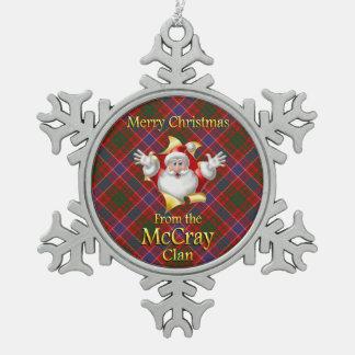 Ornamento escocés del navidad de McCray del clan Adorno De Peltre En Forma De Copo De Nieve