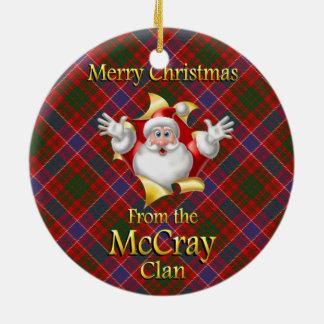Ornamento escocés del navidad de McCray del clan Adorno Redondo De Cerámica