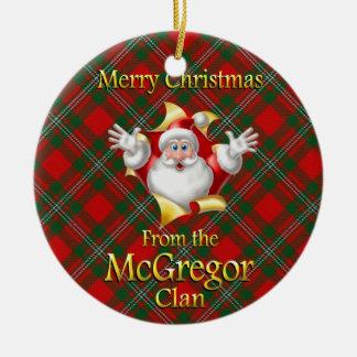 Ornamento escocés del navidad de McGregor del clan Ornamento Para Arbol De Navidad