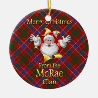 Ornamento escocés del navidad de McRae del clan Adorno Redondo De Cerámica