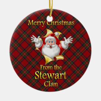 Ornamento escocés del navidad de Stewart del clan Ornamentos Para Reyes Magos