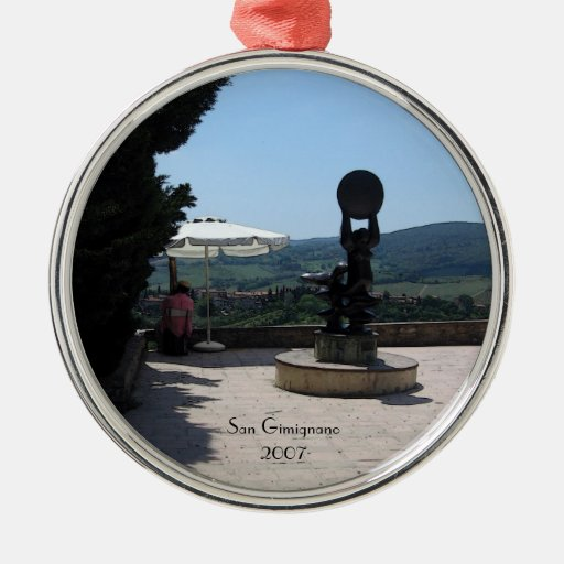 Ornamento - escultura sobre San Gimignano Ornamento Para Arbol De Navidad