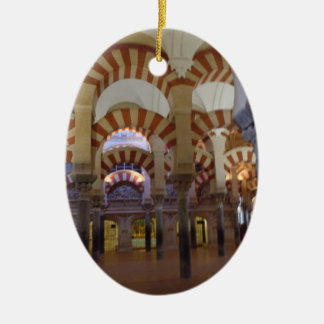 Ornamento español - Cordova Mezquita/catedral Adorno Navideño Ovalado De Cerámica