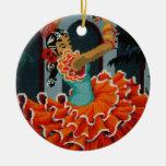 Ornamento español del bailarín del flamenco adorno para reyes