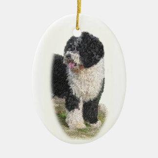 Ornamento español del perro de agua ornato