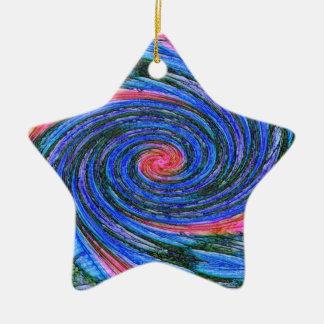 Ornamento espiral de la estrella adorno para reyes