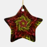 Ornamento espiral de la estrella adornos de navidad