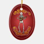 Ornamento esquelético del navidad de la mandolina ornamento para reyes magos