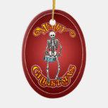 Ornamento esquelético del navidad del batería adorno para reyes