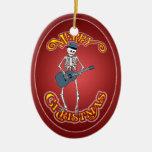 Ornamento esquelético del navidad del Bluesman Ornamento Para Arbol De Navidad