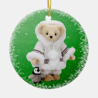Ornamento esquimal lindo del oso y del pingüino de ornamentos de reyes