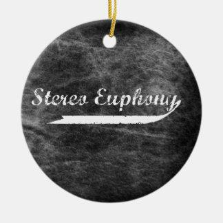 Ornamento estéreo del funcionario de la eufonía adorno navideño redondo de cerámica