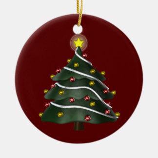 ornamento Estrella-rematado del árbol de navidad Adorno Navideño Redondo De Cerámica