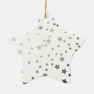 Ornamento estrellado del navidad de la estrella ornamento de navidad
