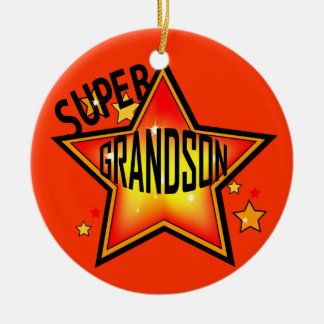 Ornamento estupendo del navidad de la estrella del adorno navideño redondo de cerámica