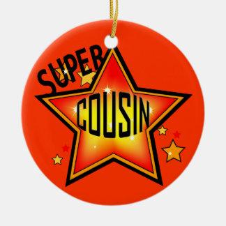 Ornamento estupendo del navidad de la estrella del adorno redondo de cerámica