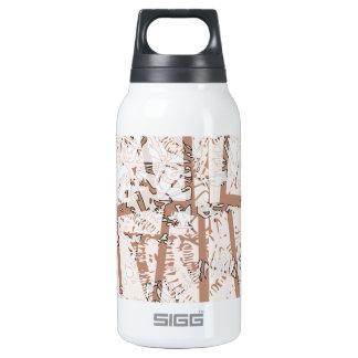 ornamento étnico de la abstracción marrón botella isotérmica de agua