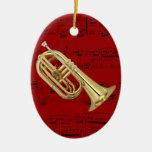 Ornamento - Euphonium que marcha - escoja su color Adornos De Navidad