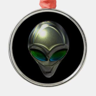 Ornamento extranjero de la cabeza 02 del metal adorno navideño redondo de metal