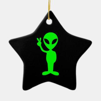 Ornamento extranjero de la estrella adorno navideño de cerámica en forma de estrella