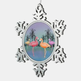 Ornamento fabuloso del copo de nieve de los adorno de peltre en forma de copo de nieve