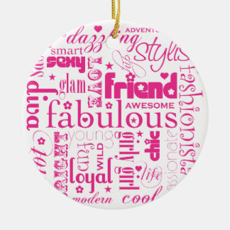 Ornamento fabuloso del sinónimo BFF Ornaments Para Arbol De Navidad