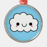 Ornamento feliz adorable de la nube de Kawaii Ornamento Para Arbol De Navidad