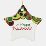Ornamento feliz de Kwanzaa Ornamento Para Arbol De Navidad