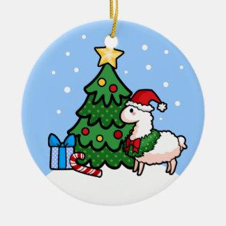 Ornamento feliz de la llama del día de fiesta ornaments para arbol de navidad