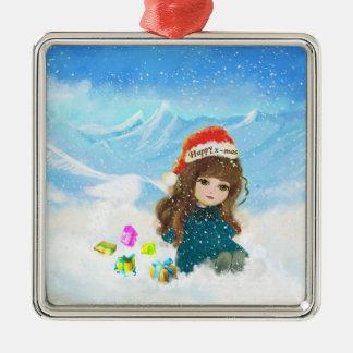Ornamento feliz de la muñeca de Navidad Ornamento Para Arbol De Navidad