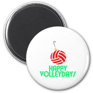 Ornamento feliz de Volleydays del navidad del Imán Redondo 5 Cm