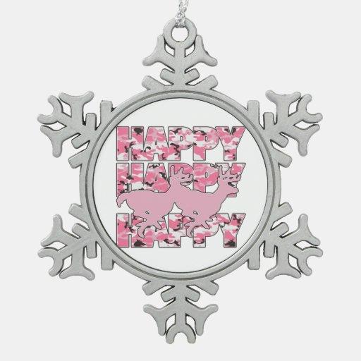Ornamento feliz del copo de nieve de Navidad del c Adorno