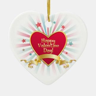 Ornamento feliz del día de San Valentín Ornaments Para Arbol De Navidad