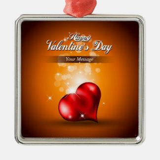 Ornamento feliz del el día de San Valentín 4 Adorno