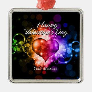 Ornamento feliz del el día de San Valentín 5 Adornos De Navidad