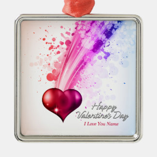 Ornamento feliz del el día de San Valentín 6 Adorno De Reyes
