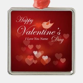 Ornamento feliz del el día de San Valentín 7 Ornamentos De Navidad