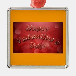 Ornamento feliz del el día de San Valentín Ornamento De Reyes Magos