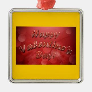 Ornamento feliz del el día de San Valentín Ornamento Para Arbol De Navidad
