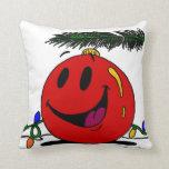 """Ornamento feliz """"Felices Navidad!"""" Almohada"""